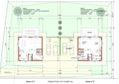 Plan Einfamilienhaeuser Stampfli Wicki AG