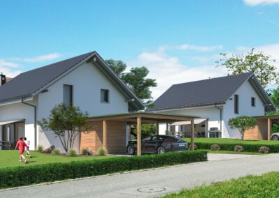 Visualisierung Einfamilienhaeuser Stampfli Wicki AG