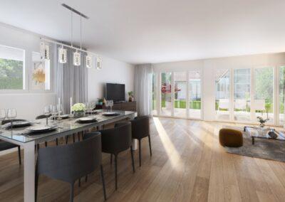 Visualisierung Einfamilienhaus Stampfli Wicki AG