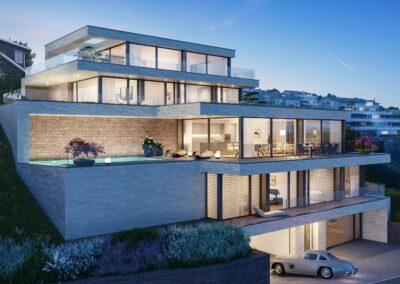 Visualisierung Zweifamilienhaus Stampfli Wicki AG