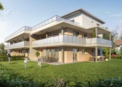 Visualisierung Mehrfamilienhaus Stampfli Wicki AG