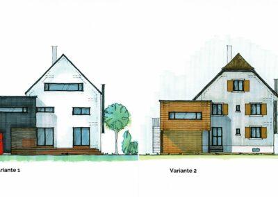 Planvarianten Einfamilienhaus Stampfli Wicki AG