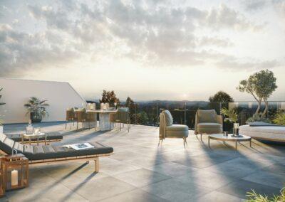 Visualisierung Attikaterrasse Mehrfamilienhaus Stampfli Wicki AG