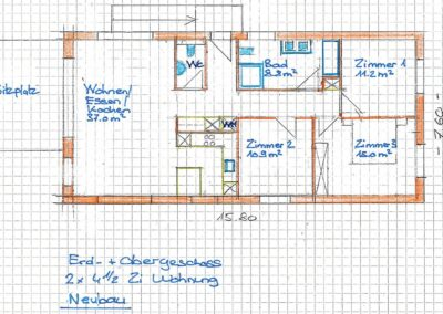 Planung Zweifamilienhaus Stampfli Wicki AG
